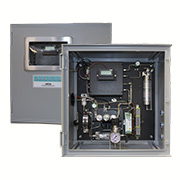 Process Instruments 3050-DO Moisture Analyzer with the door open and closed
